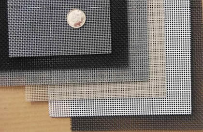 six pieces of stainless steel screens in different color coated
