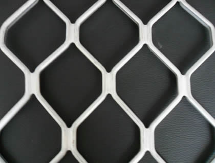 A piece of aluminum diamond grille with high quality white power coated.