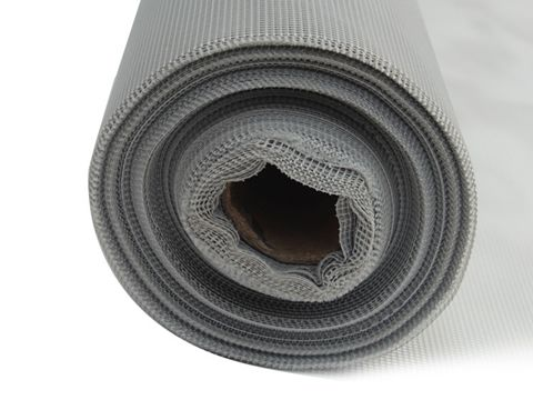 There is a gray polyester mesh roll.