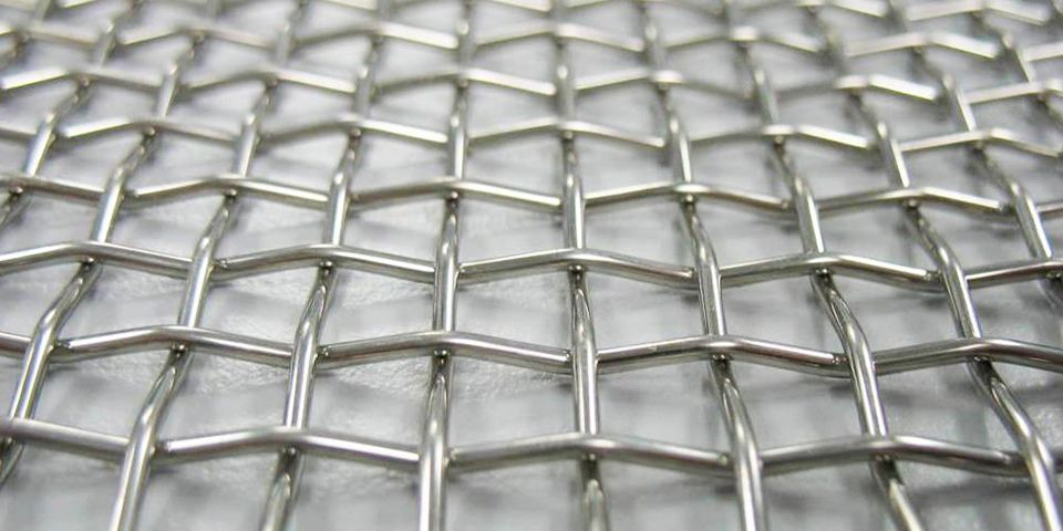 A roll of hot dipped galvanized security mesh