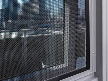 Black powder coated stainless steel 304 mesh used for security window screen.