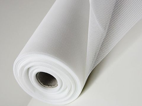 There is a white polyester mesh screen roll.